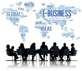E-Business Global Commerce Marketing Online World Concept