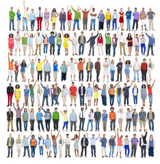 Diversity People Success Happiness Community Crowd Concept