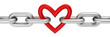Obrazy na płótnie, fototapety, zdjęcia, fotoobrazy drukowane : Chain with heart