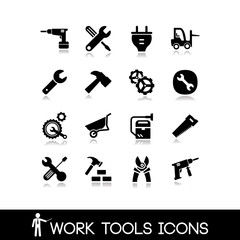 Work tools icons set 2