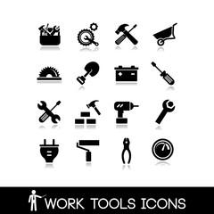 Work tools icons set 3
