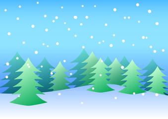 雪と樅の木