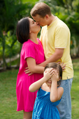 Kissing parents