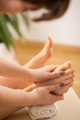 Woman's reflexology