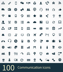 100 communication icons
