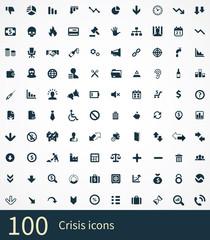 100 crisis icons