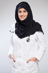 Pretty muslim doctor
