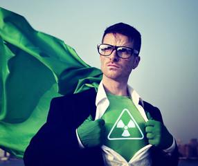 Radioactive Strong Superhero Success Professional Concept