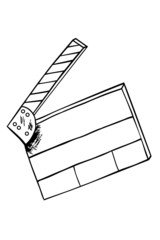 Hand draw sketch of Film Clapper