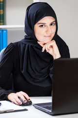 Arabic woman in the office
