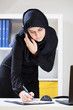 Female muslim at work