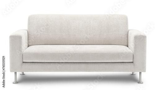 Leinwanddruck Bild sofa furniture isolated on white background