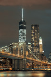 Fototapeta Bridge - Manhattan at night © rabbit75_fot