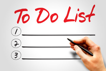 TO DO LIST blank list, business concept
