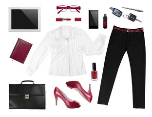 Collection of business woman's accesories