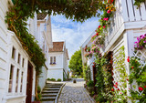 Street in old centre of Stavanger - Norway - 76539930