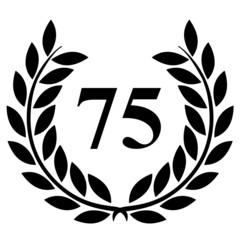 Lauriers 75 sur fond blanc
