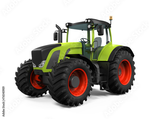 Leinwanddruck Bild Green Tractor Isolated