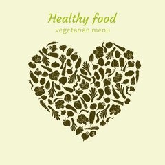 Healthy vegetable heart