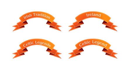 Irish orange ribbon set