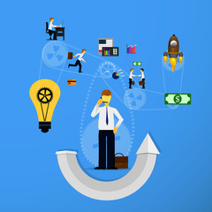 Business concept of teamwork