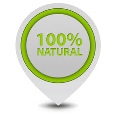 100% natural pointer icon on white background