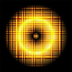 Gold abstract circle grid