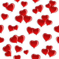 Red Valentines heart seamless background