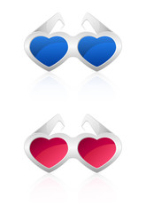 Glasses in the shape of heart