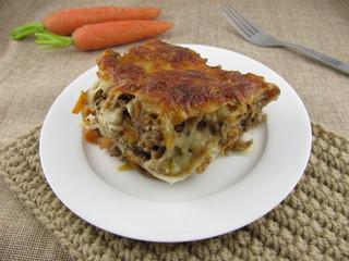 Gemüse-Lasagne mit Möhre