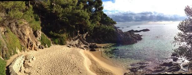 spain beach panorama