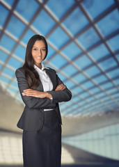 Confident attractive corporate manageress