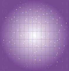 Grid bokeh lines as decorative elements purple
