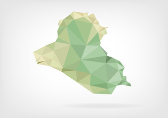 Low Poly map of Iraq