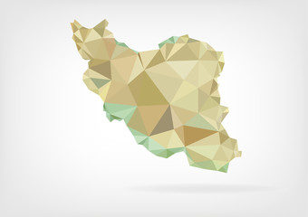 Low Poly map of Iran