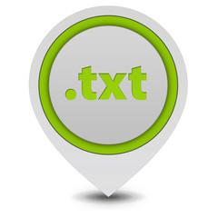 .txt pointer icon on white background