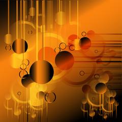 Orange Technical background template