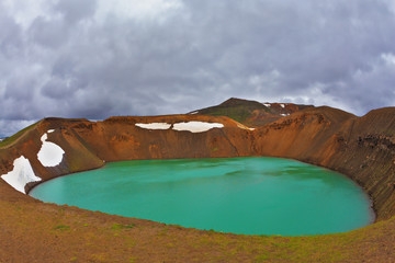 Lake in the crater of an volcano