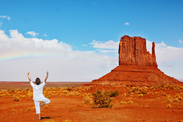 Red Desert and woman in white