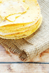 thin corn tortillas