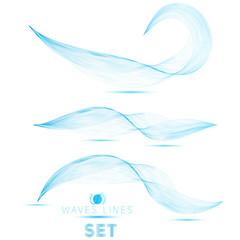 great set blue blend massive waves abstract background design