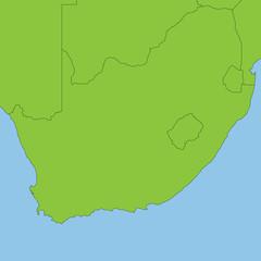 Südafrika in grün