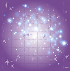 Star purple background template