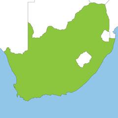 Südafrika in weiß und grün