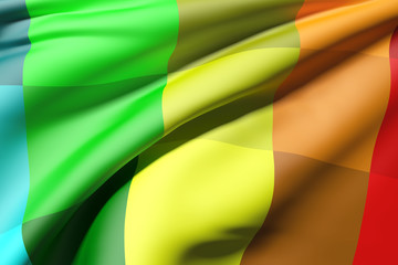 colored flag