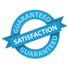 """SATISFACTION GUARANTEED"" Badge (stamp label guarantee quality)"