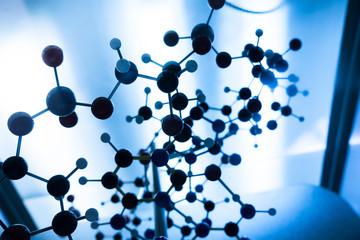 Science Molecule DNA Model Structure, business teamwork concept