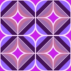 Seamless retro purple and pink background - waben 70er