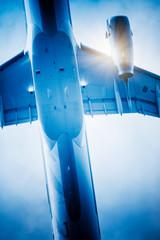 speeding airplane
