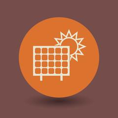 Solar panel symbol, vector